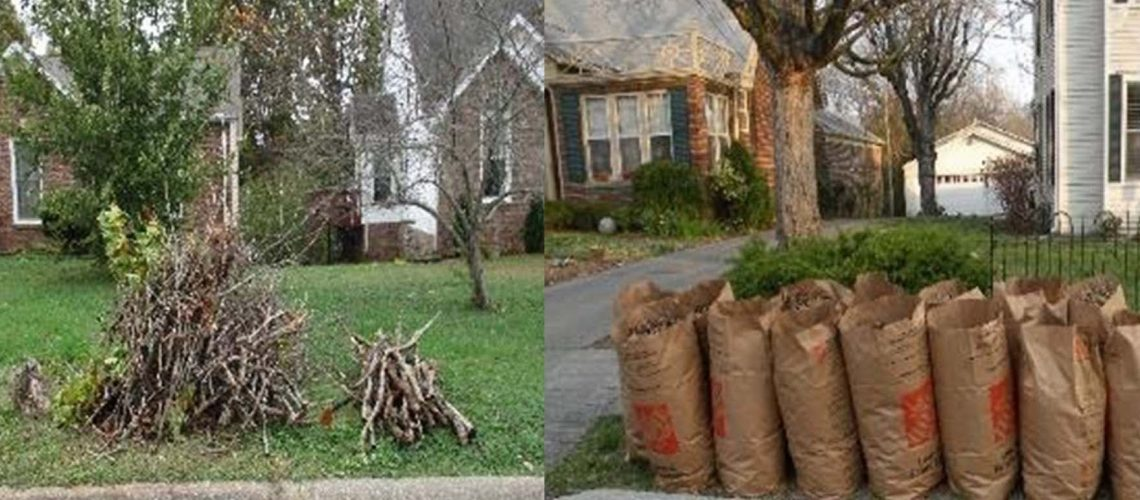During the annual Spring Cleanup, the Clarksville Street Department will pick up smaller limbs, left, and clippings and leaves placed in biodegradable bags or boxes.